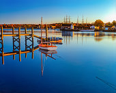 Historical whaling village Mystic Seaport Mystic CT(P)