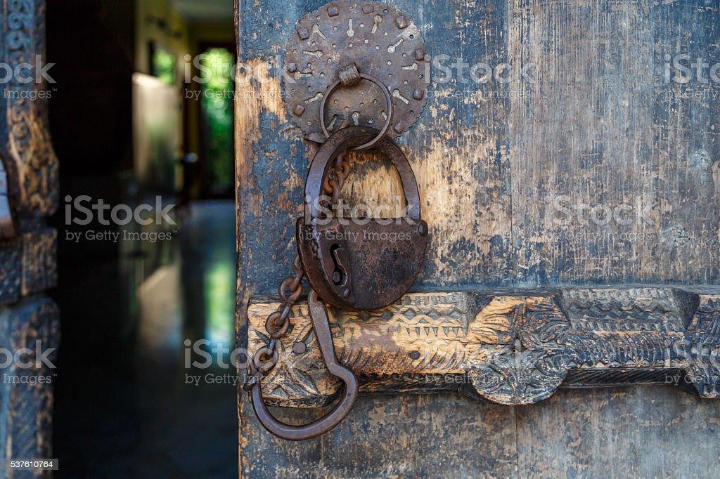 Historical Wooden Door stock photo