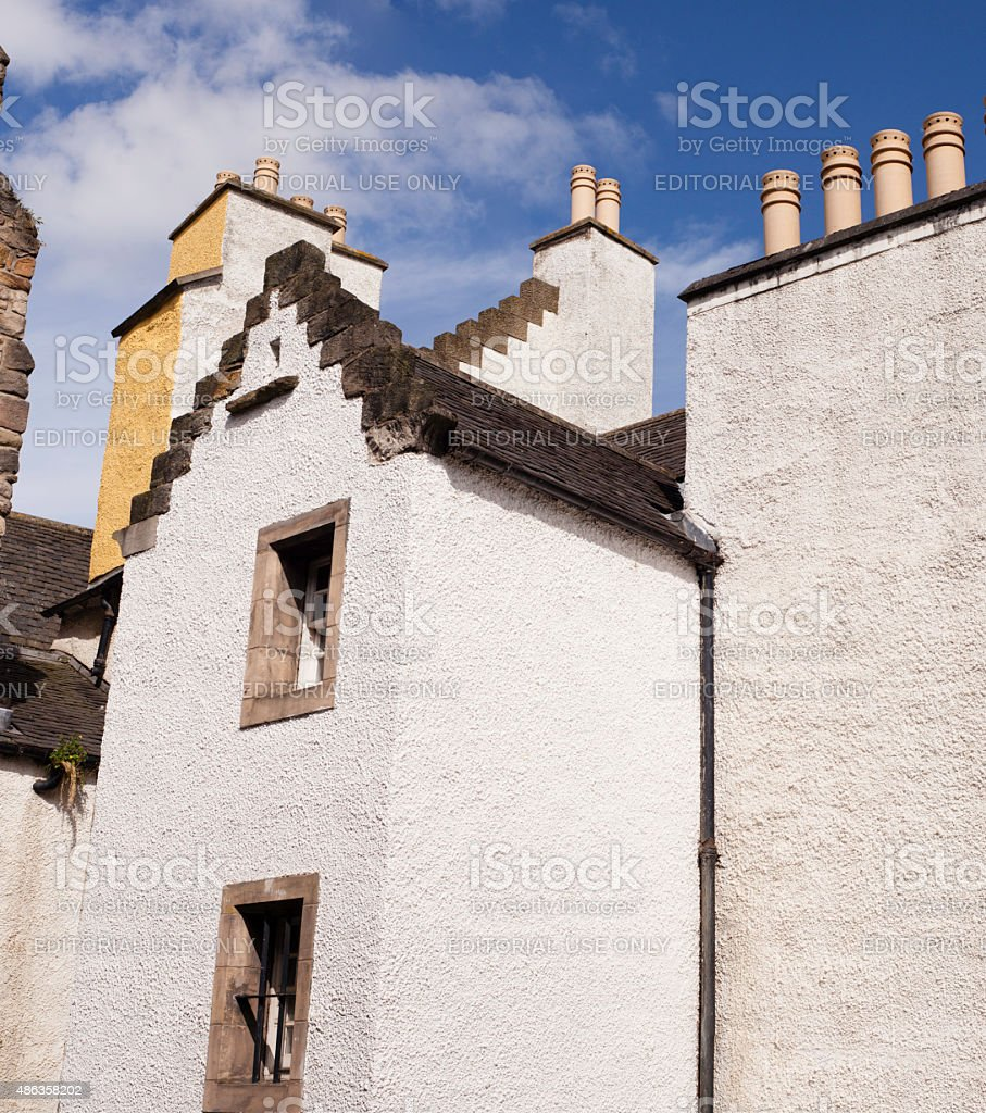 Historicly old house in Edinburgh's Canongate stock photo