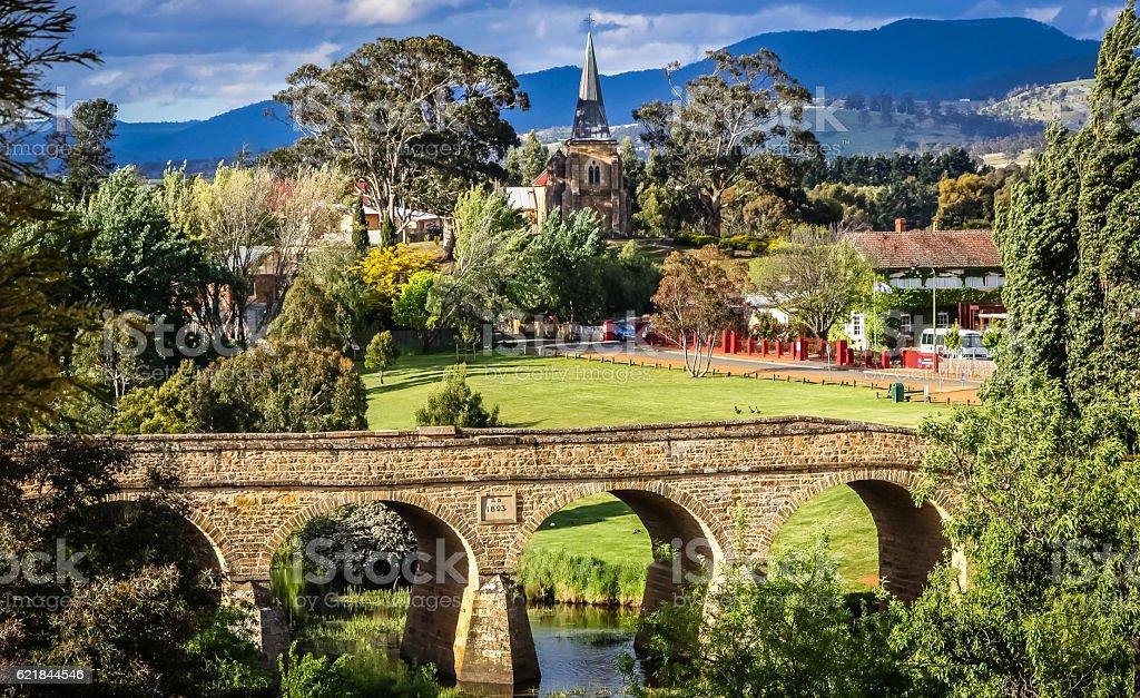 Historische Brücke von Richmond, Tasmanien stock photo