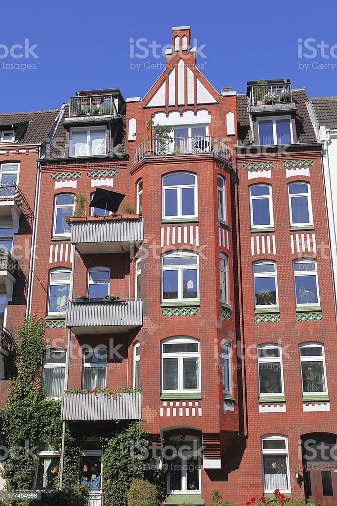 historism residential building stock photo