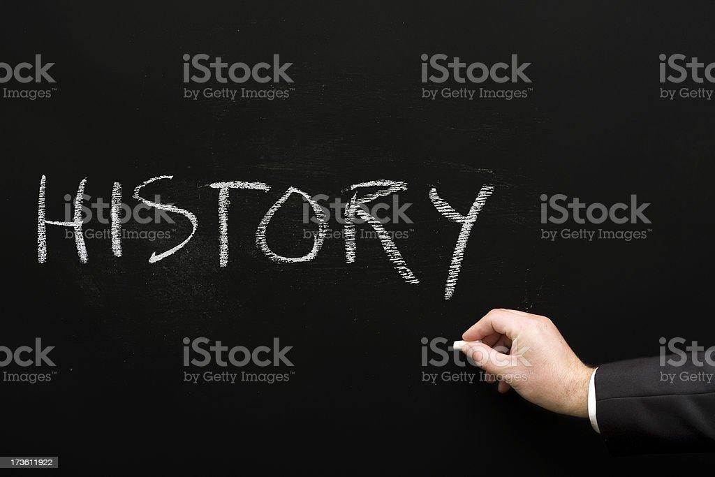 History Chalk Text royalty-free stock photo