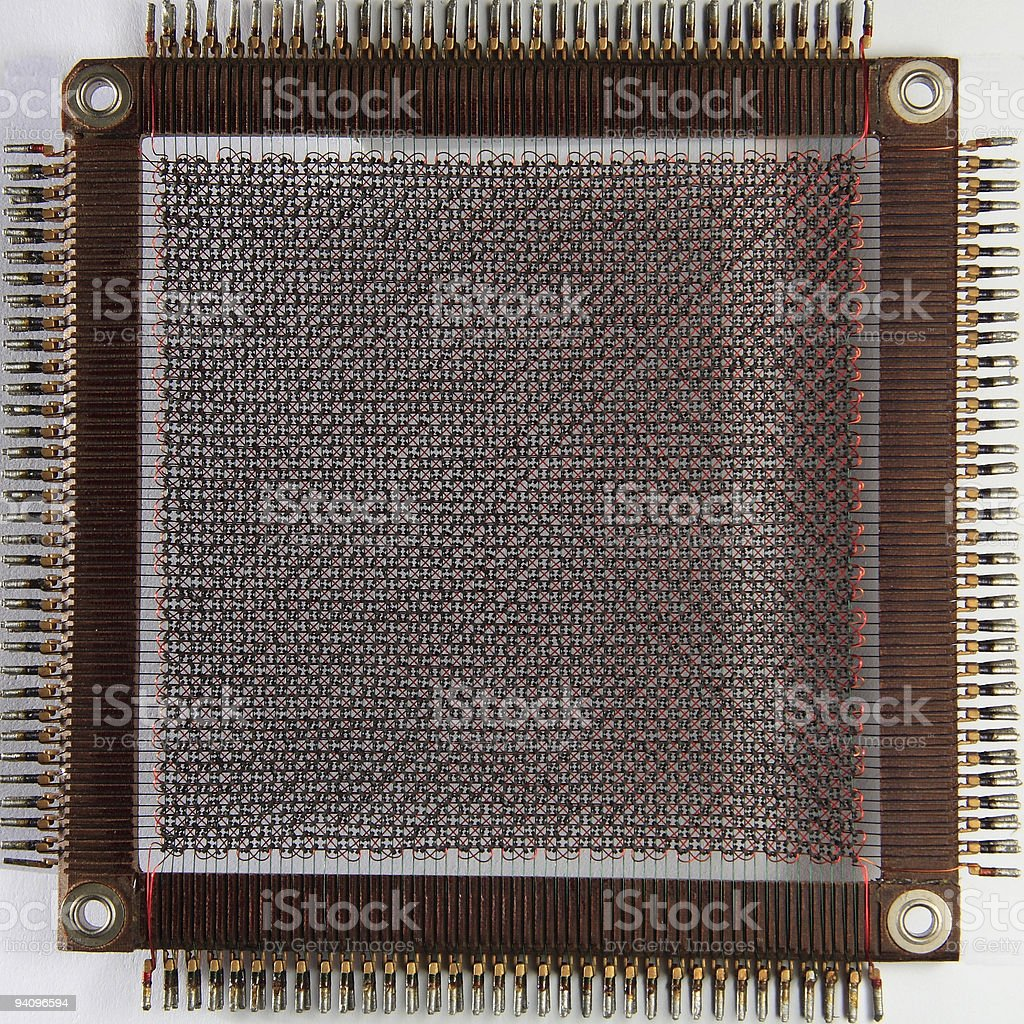history computer core memory stock photo