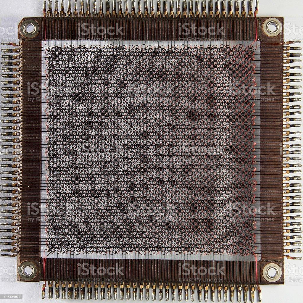 history computer core memory stock photo