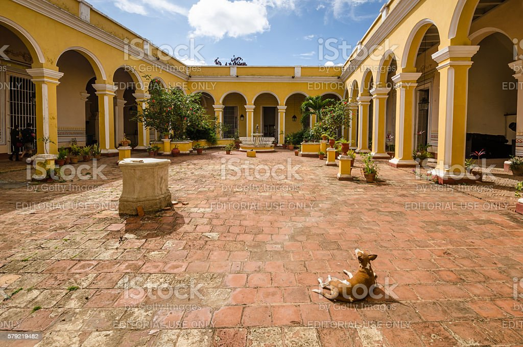 History Museum in Trinidad, Cuba stock photo