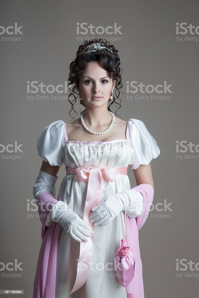 History of fashion design - 19th century stock photo