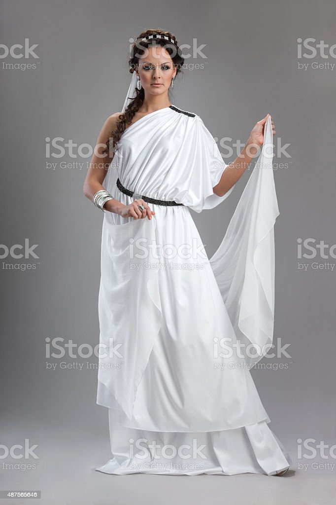 History of fashion design - Greek stock photo