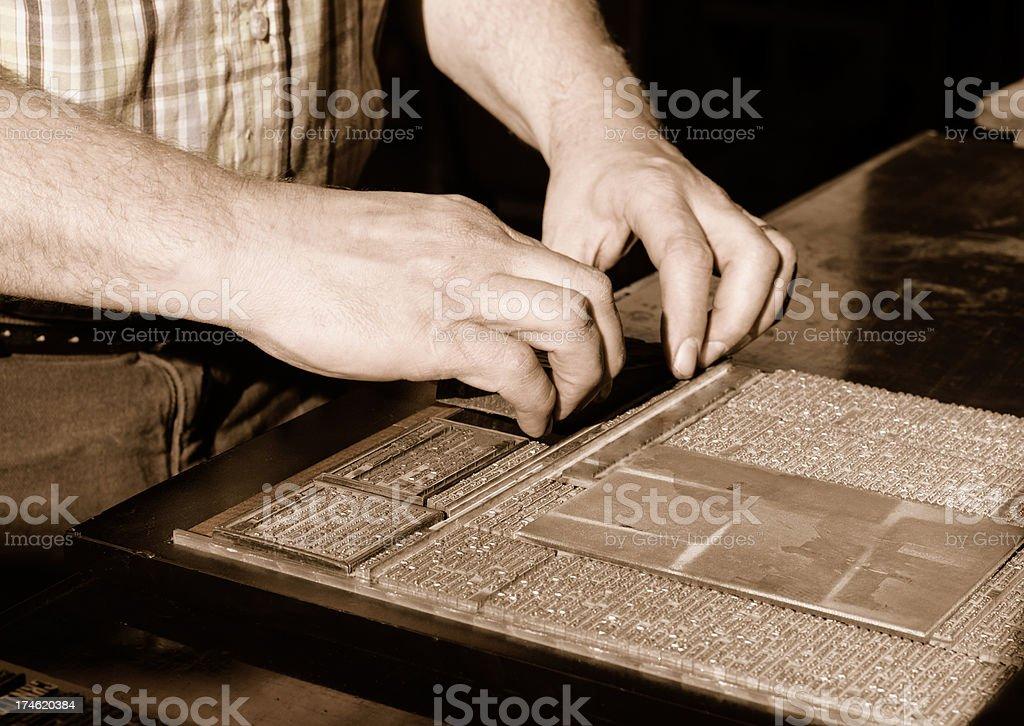 History of Printing -Letterpress Shop stock photo