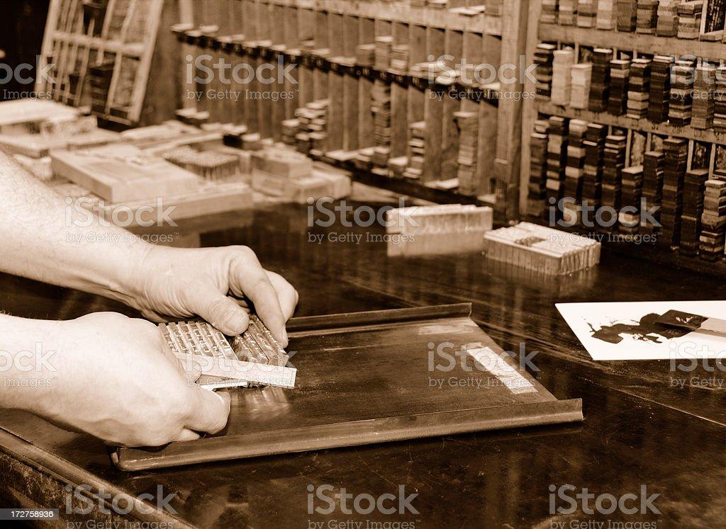 History of printing royalty-free stock photo