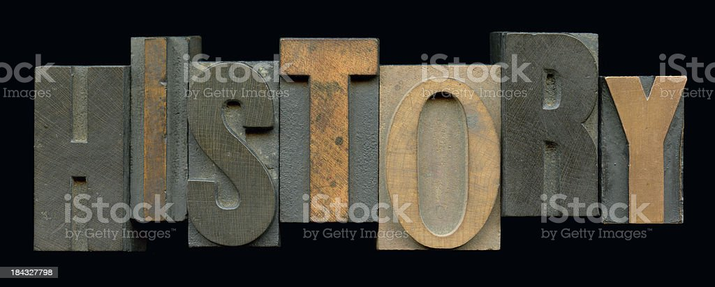 History Print Blocks stock photo