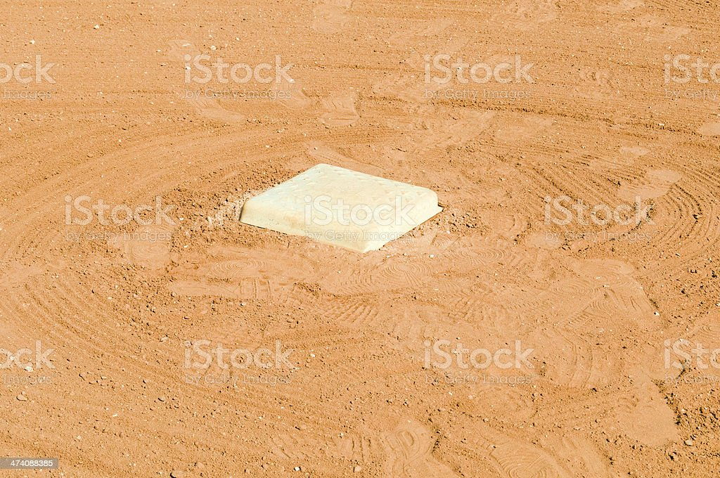 Hit a double and you stand here stock photo