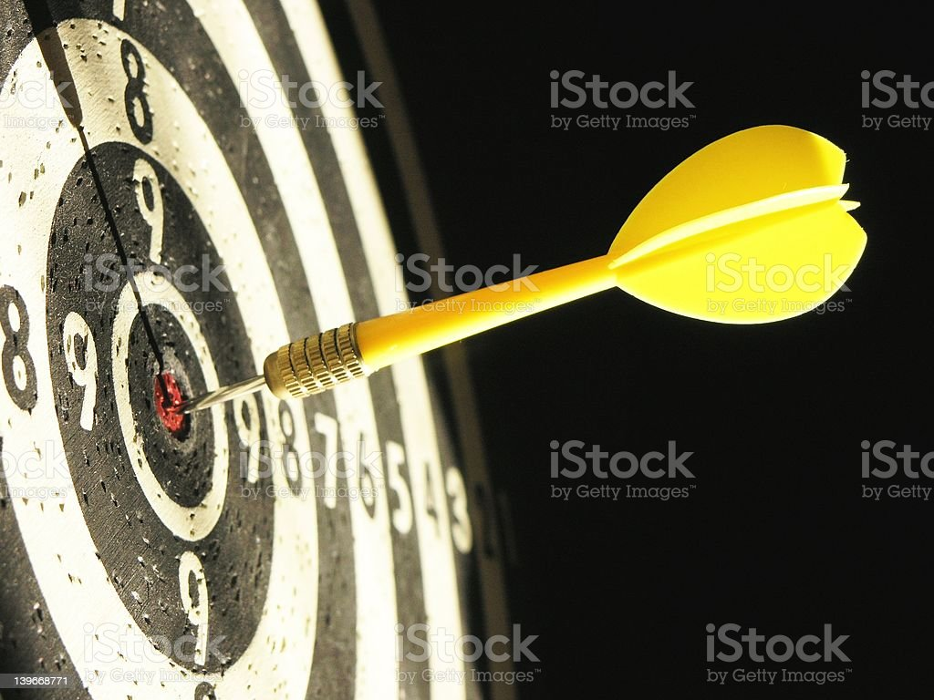 Hit a target royalty-free stock photo