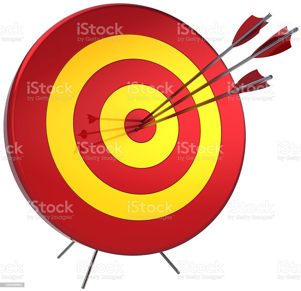 Hit a target successful by sniper royalty-free stock photo