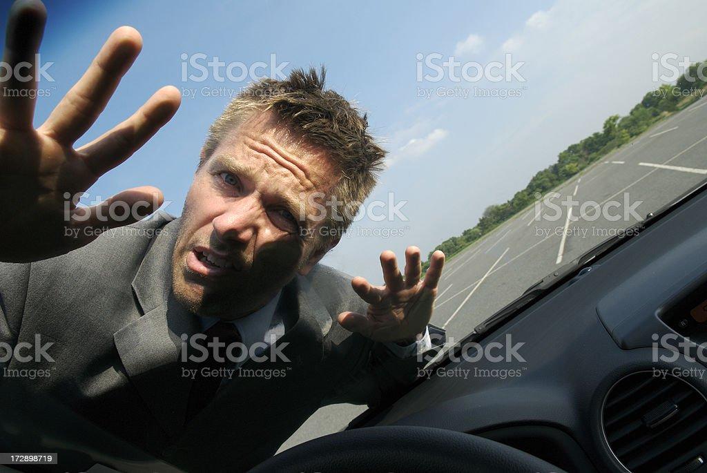Hit and Run Businessman stock photo