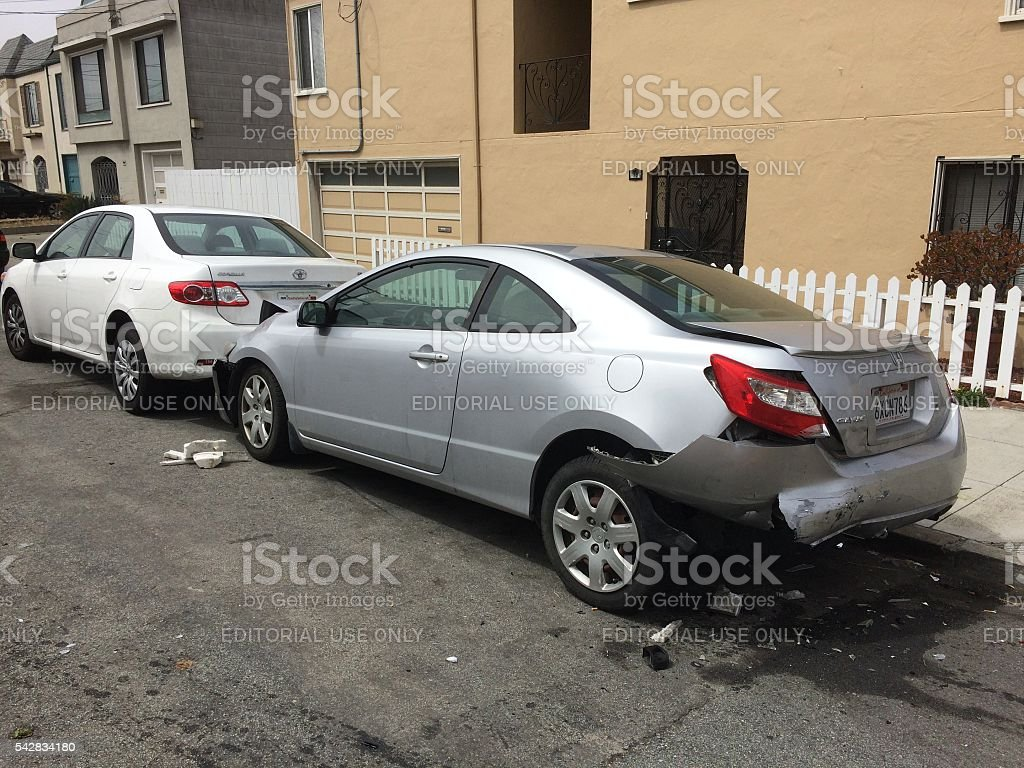 Hit and Run in San Francisco stock photo