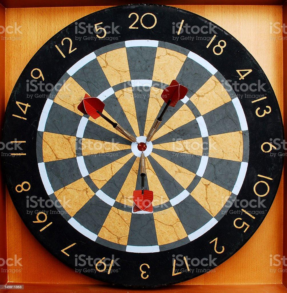 Hit the bullseye. royalty-free stock photo
