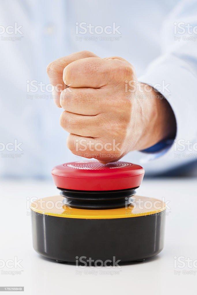 Hit the buzzer! stock photo