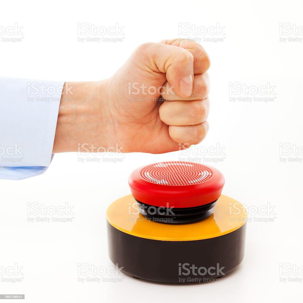 Hit the buzzer! royalty-free stock photo