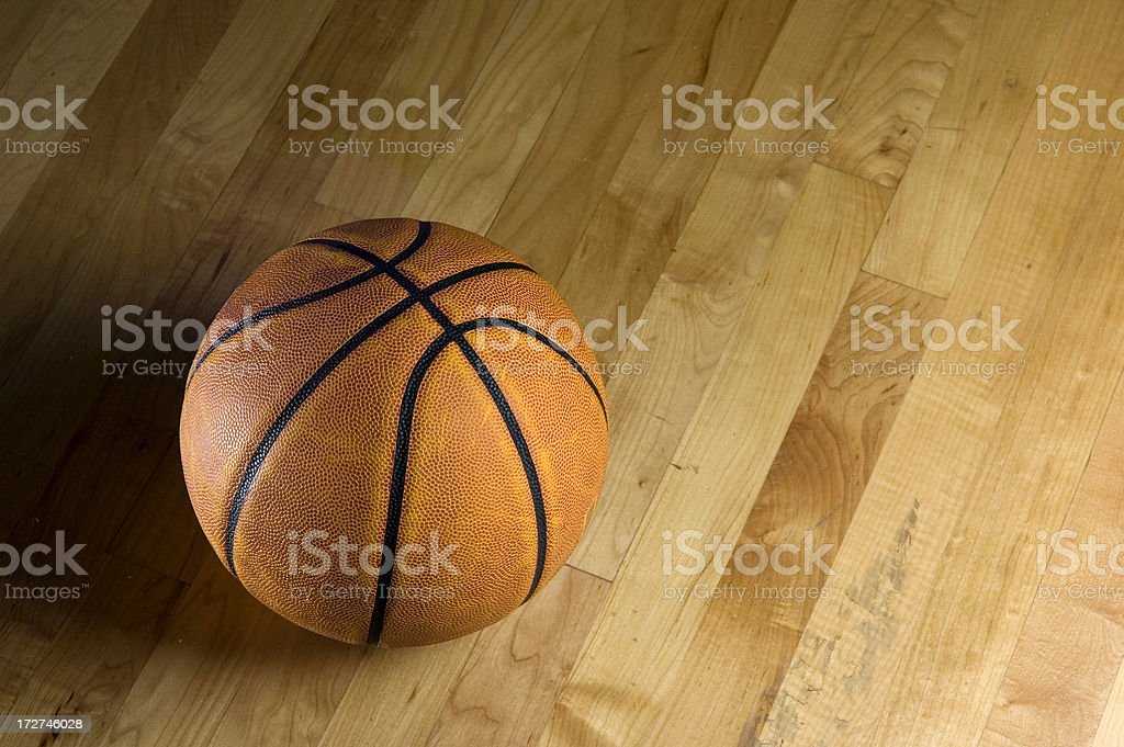 Hit the Hardwood royalty-free stock photo