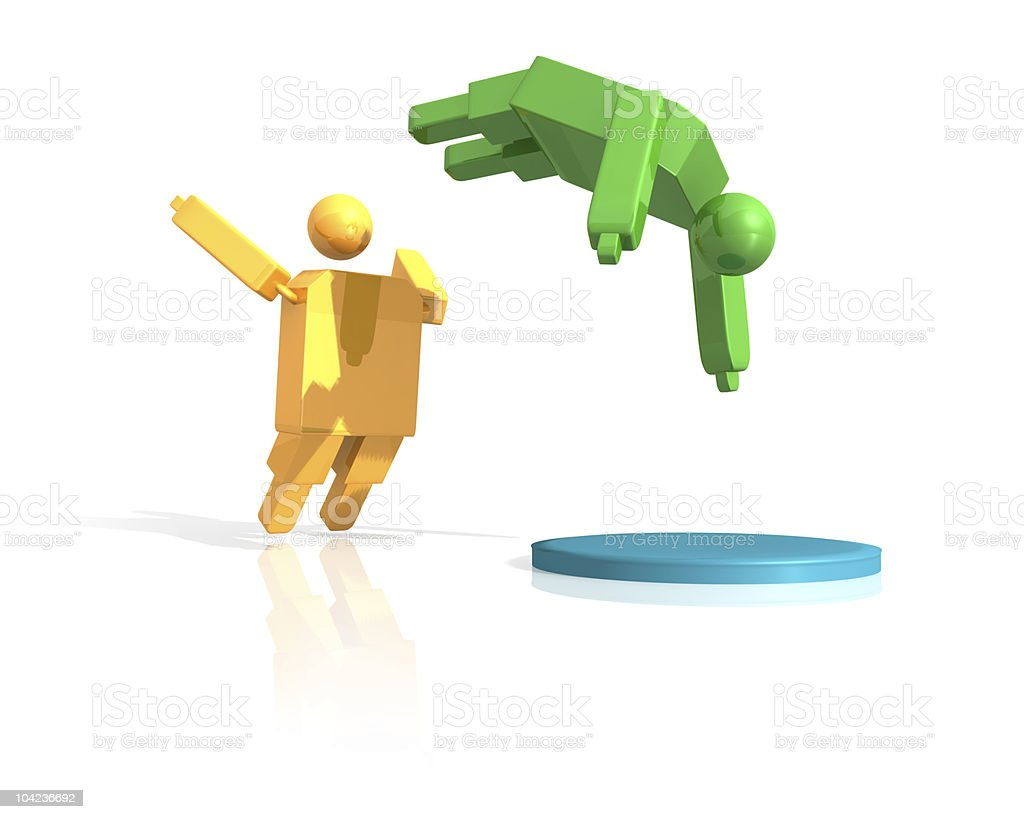 Hit the target area concept illustration royalty-free stock photo