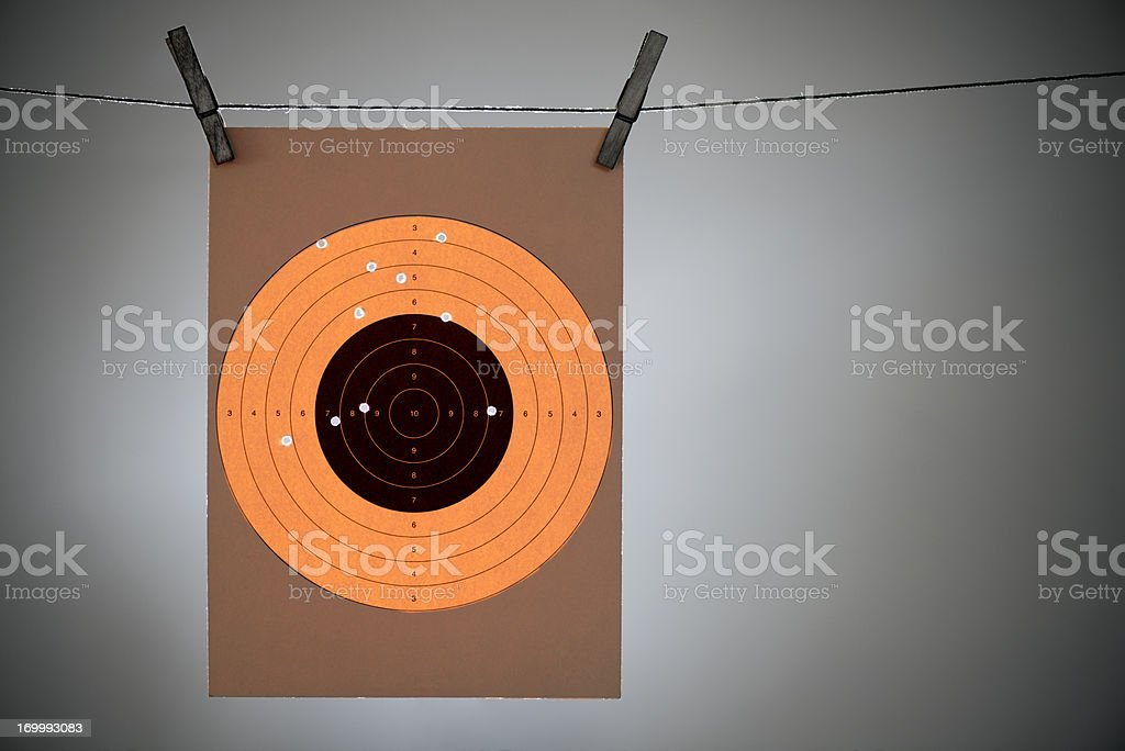 Hit Your Target royalty-free stock photo