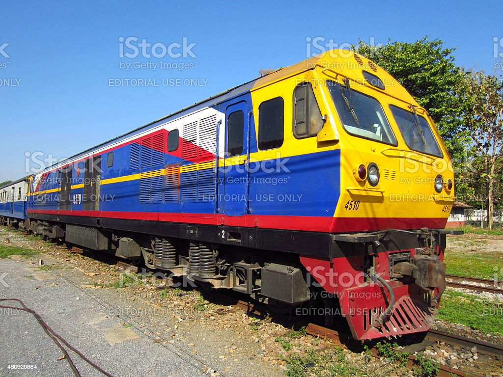 Hitachi Diesel locomotive no.4501 stock photo