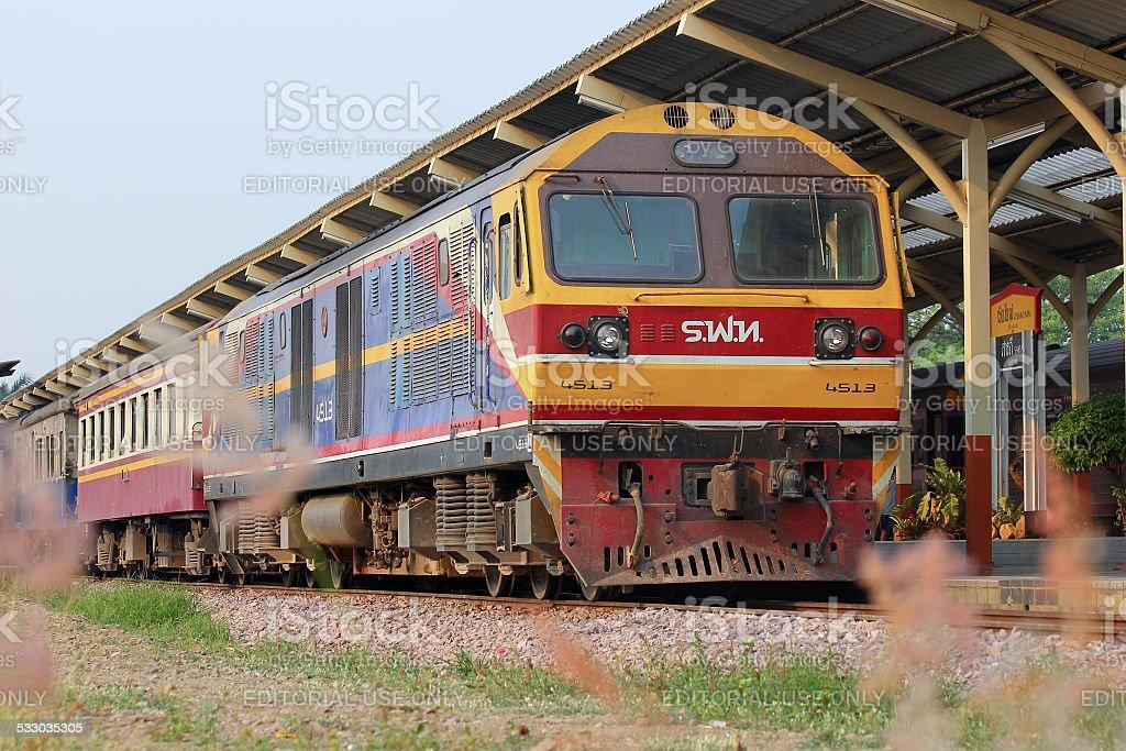 Hitachi Diesel locomotive no.4513 stock photo