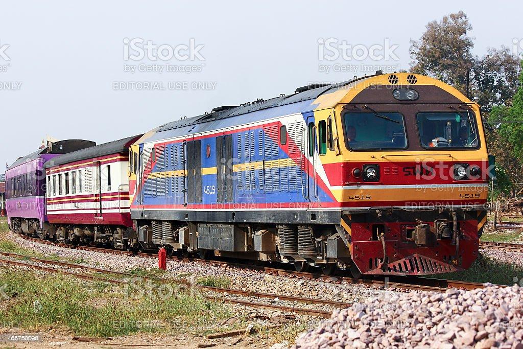 Hitachi Diesel locomotive no.4519 stock photo