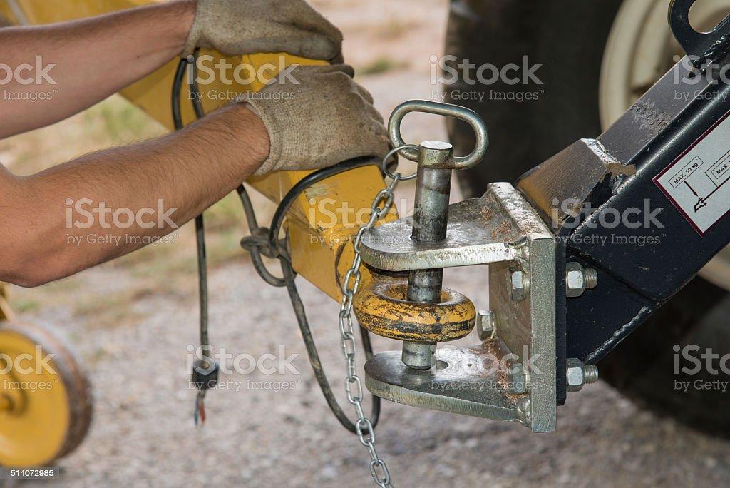 hitch pin stock photo