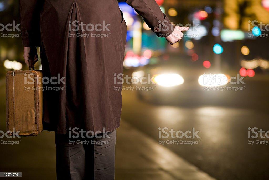 Hitchhiker royalty-free stock photo