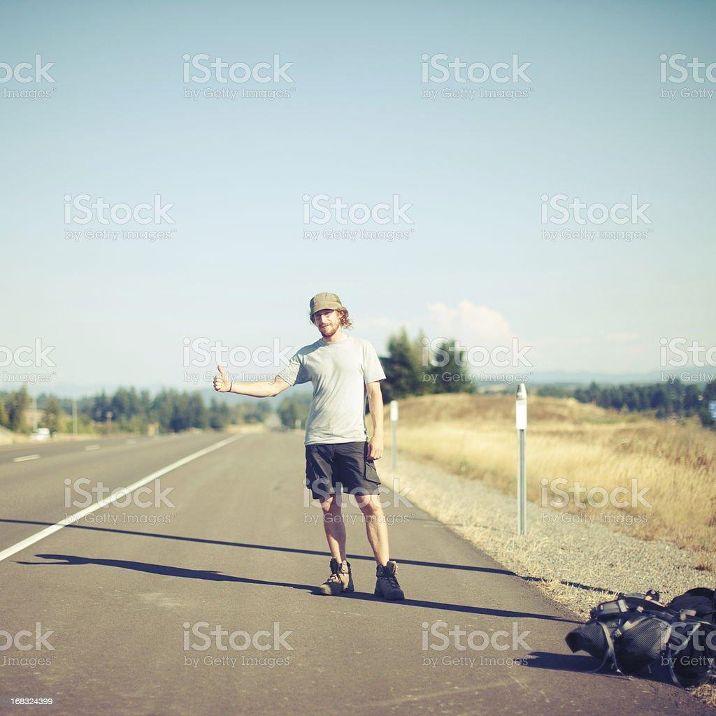 Hitchhiker stock photo