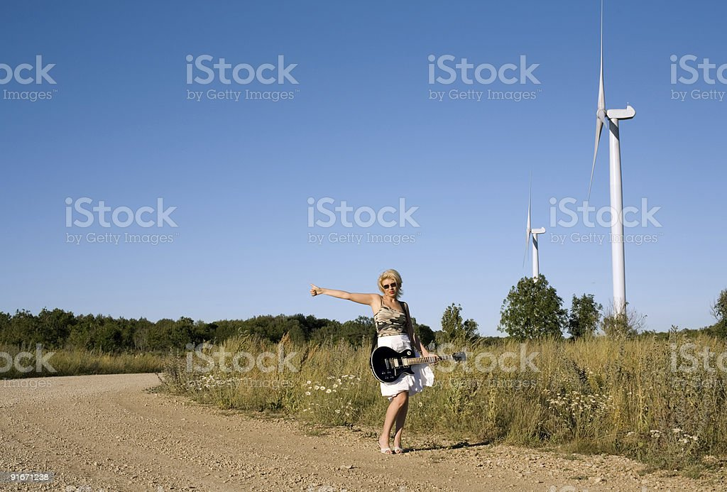 hitch-hiker royalty-free stock photo
