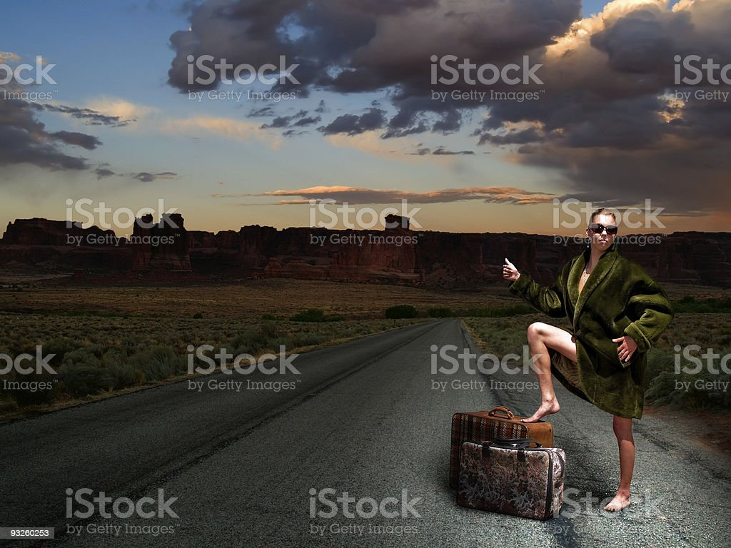 Hitchhiker royalty-free stock photo