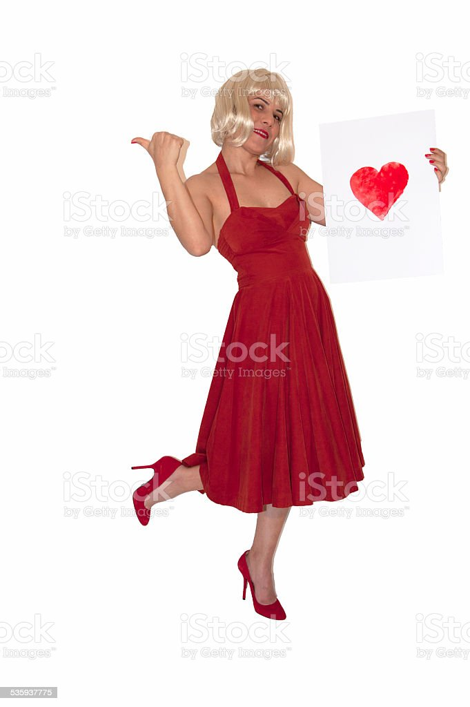 Hitchhiking to love stock photo