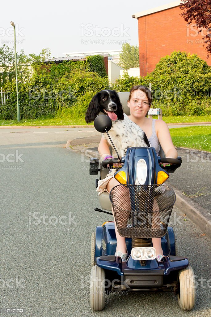 Hitching a ride! stock photo