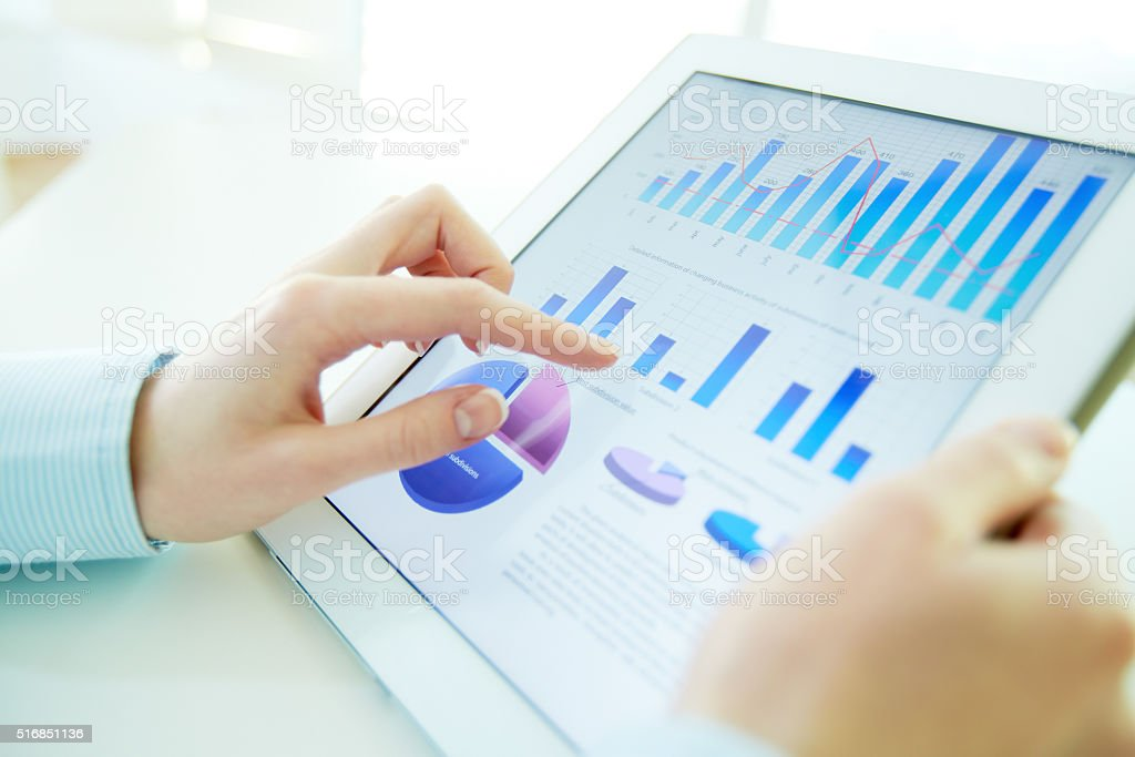 Hi-tech analysis stock photo