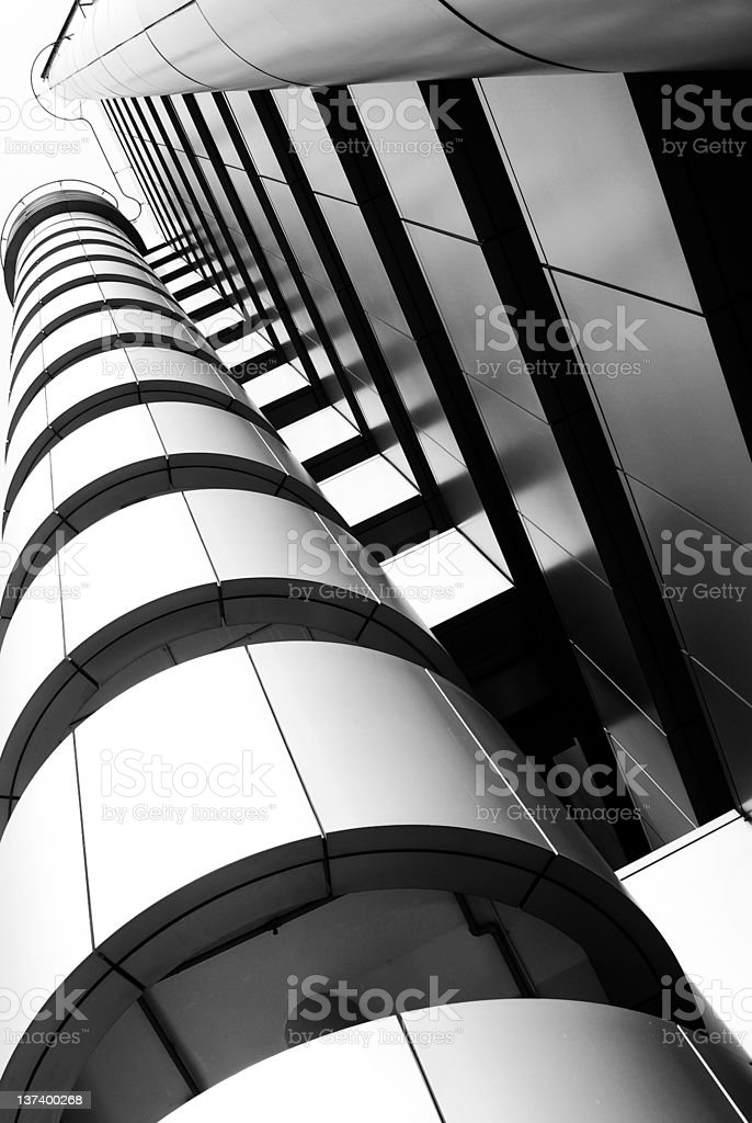 Hi-tech Building details royalty-free stock photo