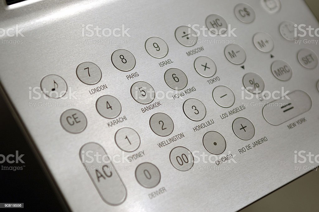 Hi-tech calculator royalty-free stock photo