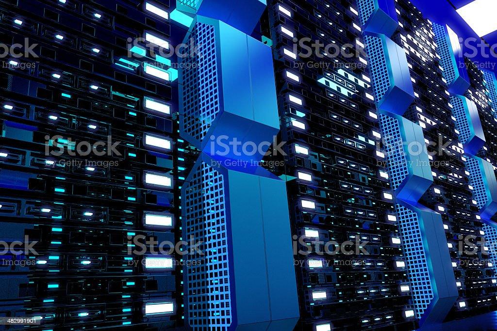 Hi-Tech Computer Network royalty-free stock photo