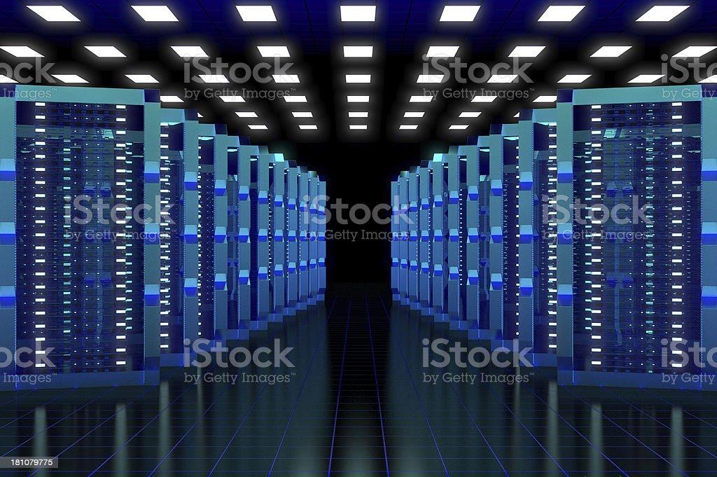 Hi-Tech Data Center royalty-free stock photo