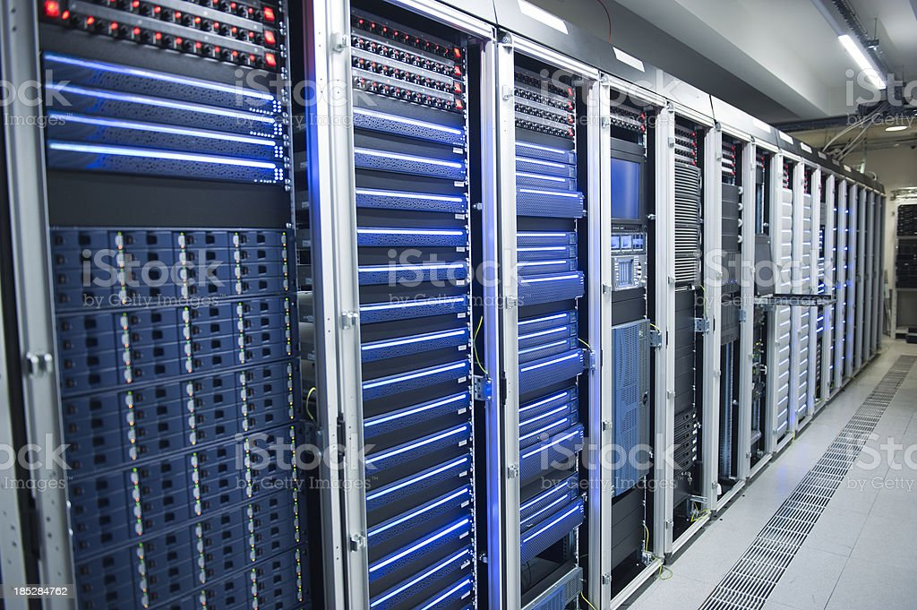 Hi-Tech Data Center royalty-free stock photo