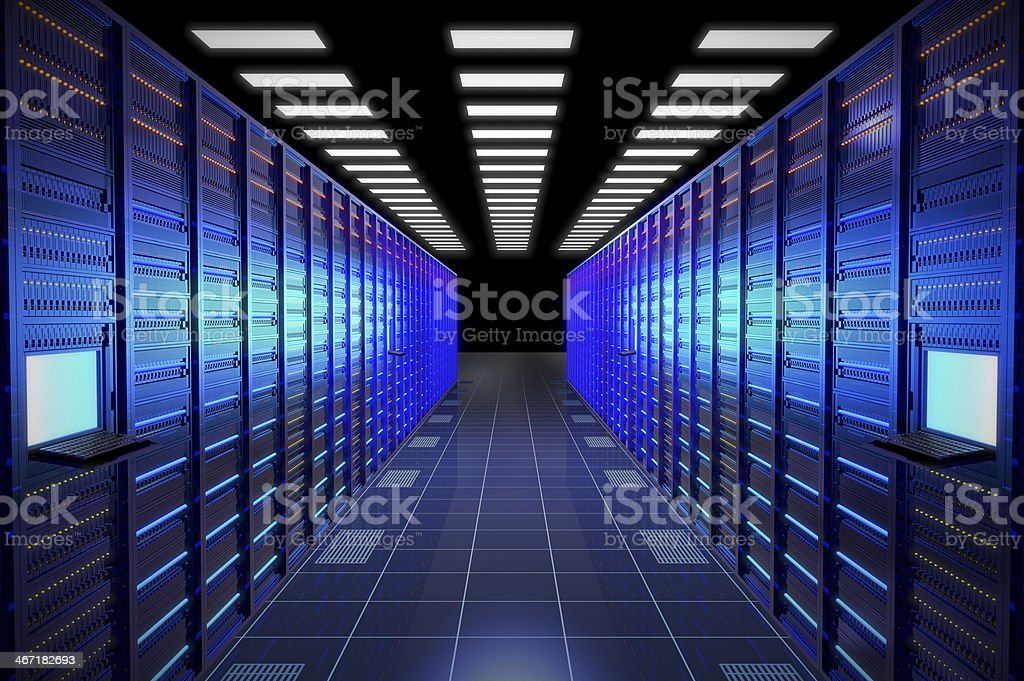 Hi-Tech Data Center stock photo