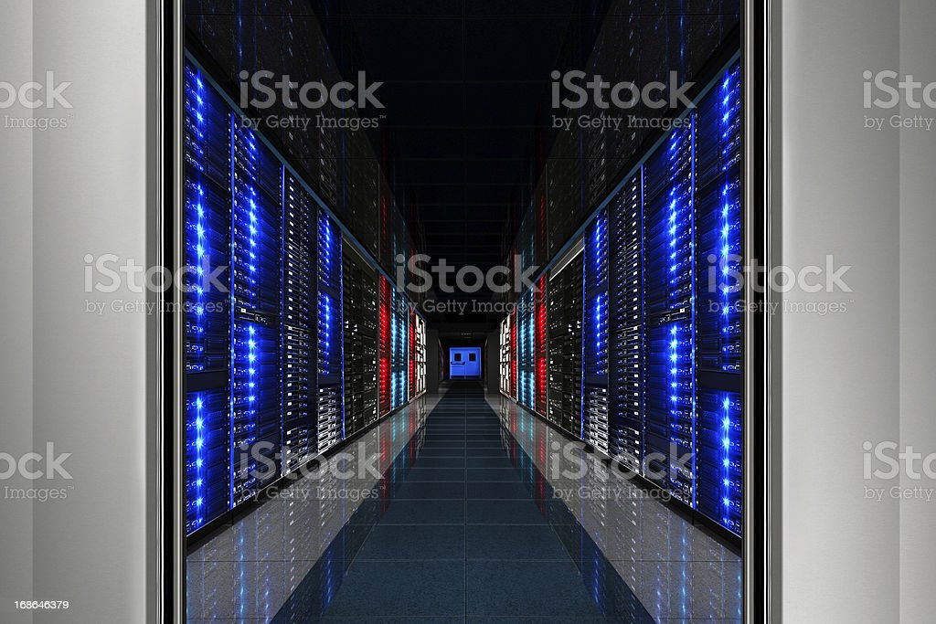 Hi-Tech Data Center Server Room stock photo