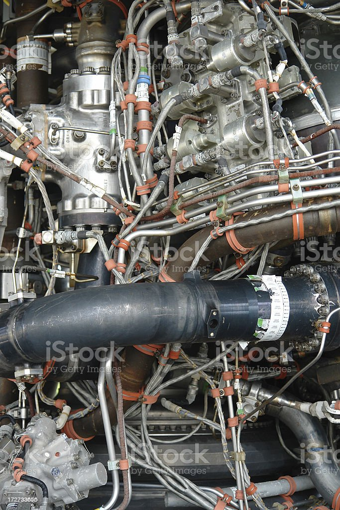 Hi-Tech Engine royalty-free stock photo