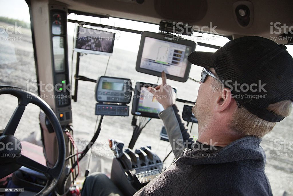 Hi-Tech Farming royalty-free stock photo