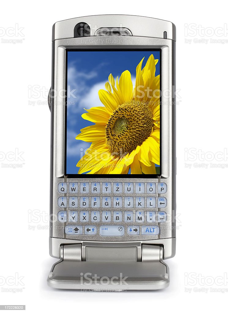 Hi-Tech PDA mobile phone, isolated on white background royalty-free stock photo