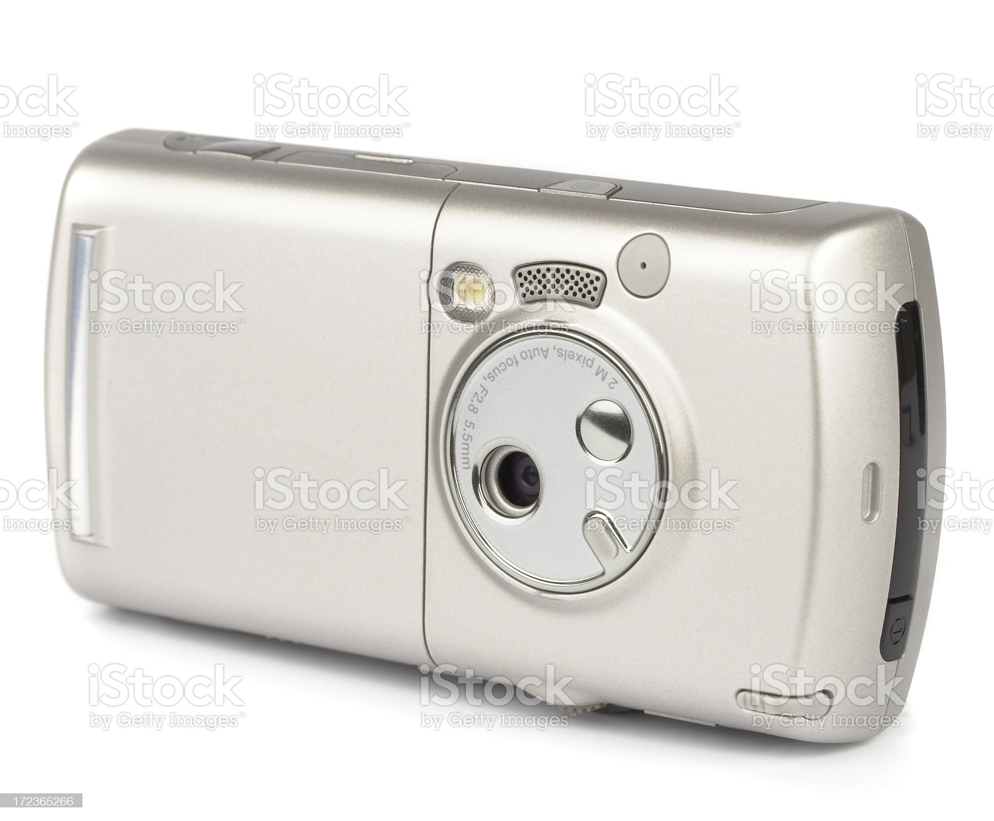 Hi-Tech PDA mobile phone with camera, isolated on white background royalty-free stock photo