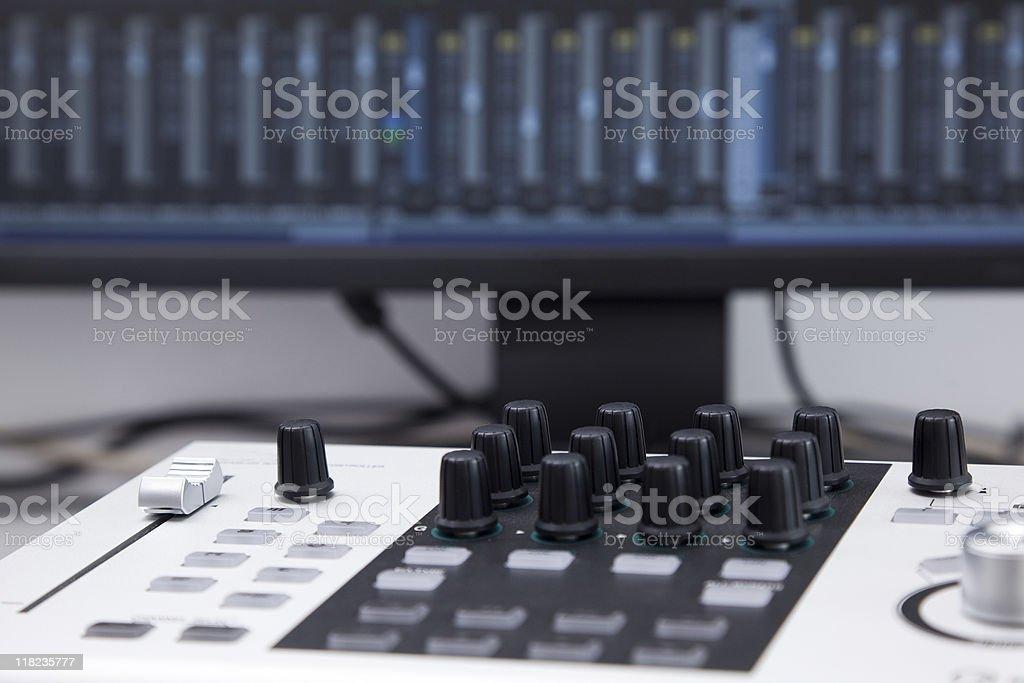 Hi-tech recording equipment stock photo