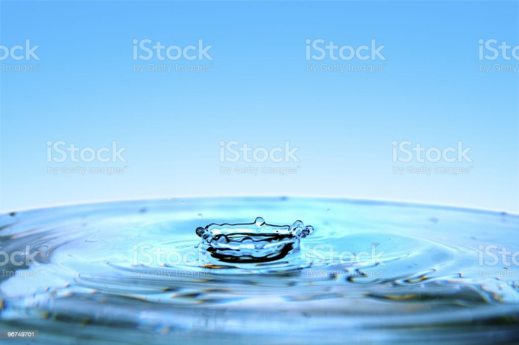 hits of water royalty-free stock photo