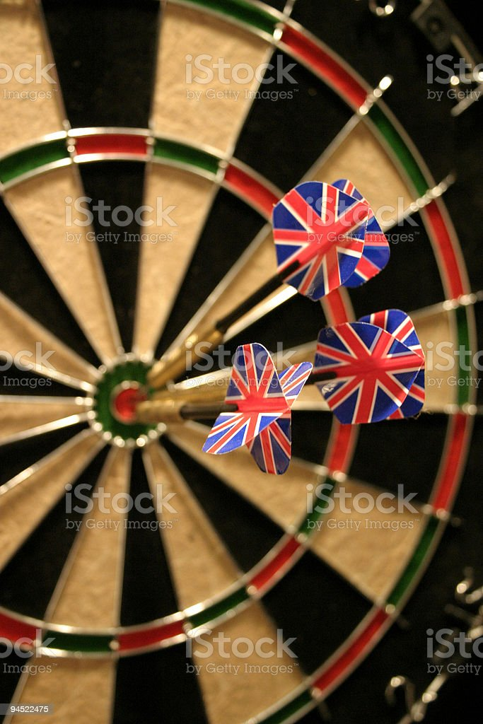 UK Hits The Target royalty-free stock photo